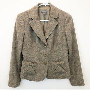 Ann Taylor petite wool blazer with bow detail